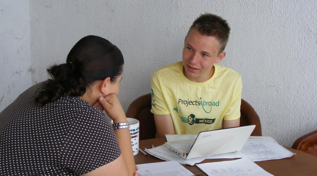 Projects Abroad Highs School Special volunteer learning Spanish during his Conservation project abroad.